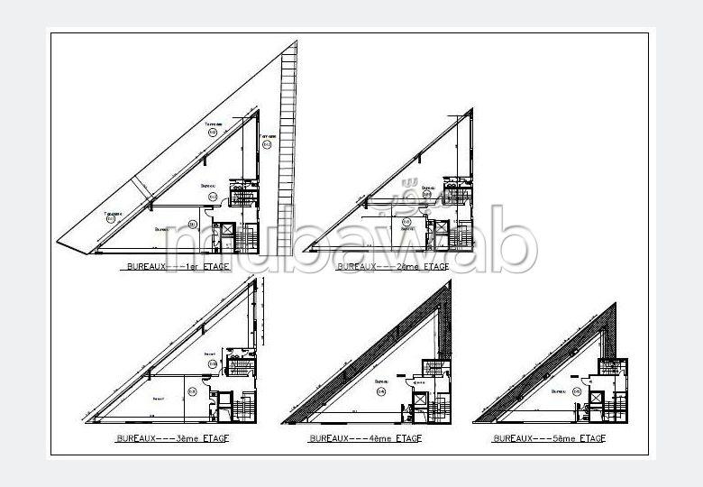 VENDU Plateaux de Bureau neufs, Mohamed V, a partir de 81m2,12.000 Dh/m2