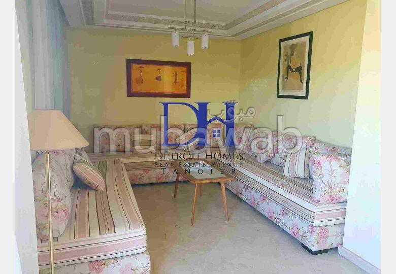 شقة مساحتها 110م²، مفروشة، شرفة، 4 غرف، طنجة المدينة