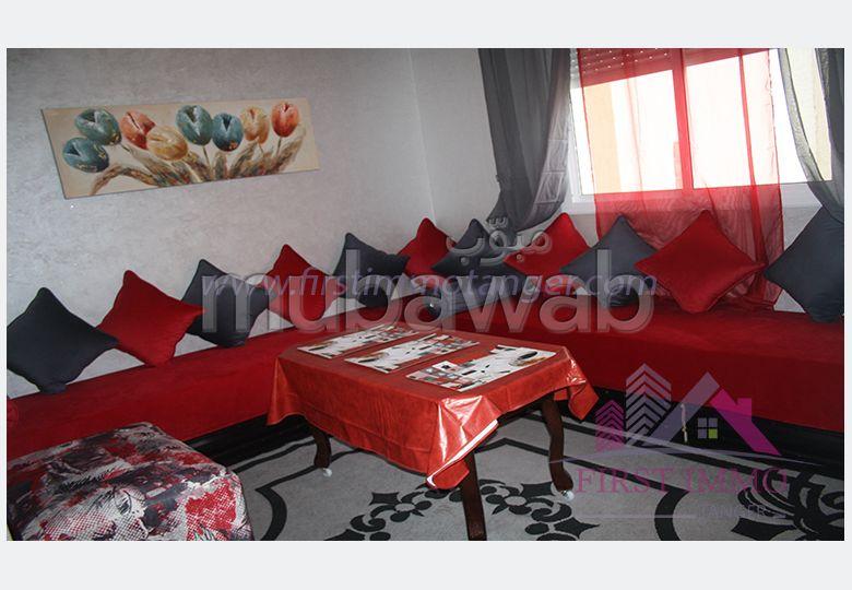 شقة مساحتها 55م²، مفروشة، مطبخ مجهز، 3 غرف، الشرف مغوغة