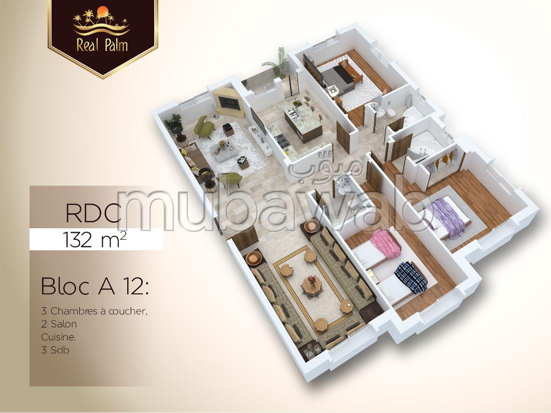Appartement de 132 m² en vente Real Palm, Tanger