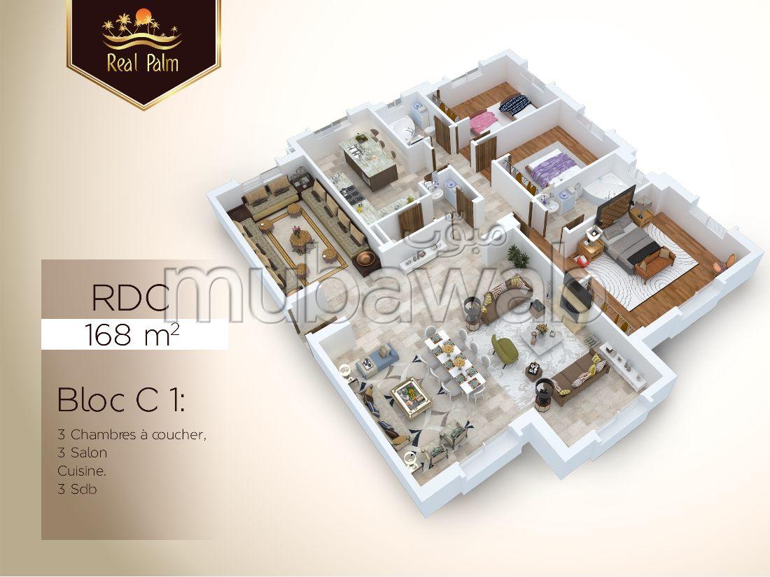 Appartement de 168 m² en vente Real Palm, Tanger