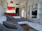 شقة مساحتها 60م²، مفروشة، مطبخ مجهز، غرفتين، سيدي بليوط