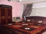 شقة مساحتها 59م²، مطبخ مجهز، شرفة، غرفتين، برنوصي