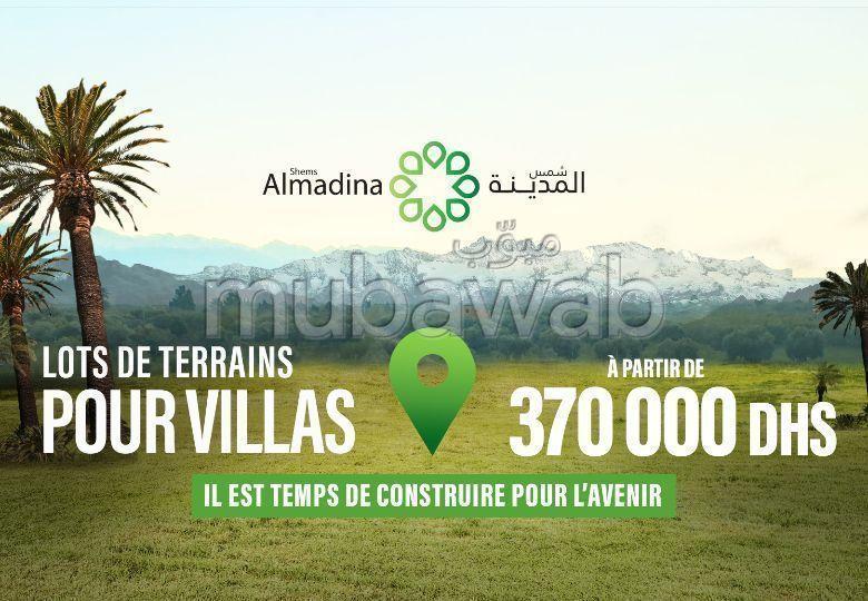 Lot de terrain de 253m² pour villa en vente SHEMS AL MADINA, MARRAKECH