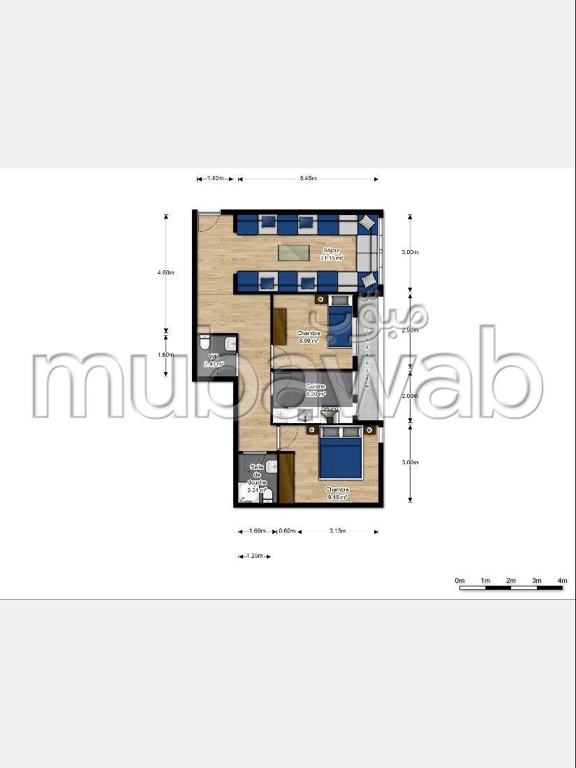 Magnífico piso en venta. 3 habitaciones confortables. Cocina equipada.