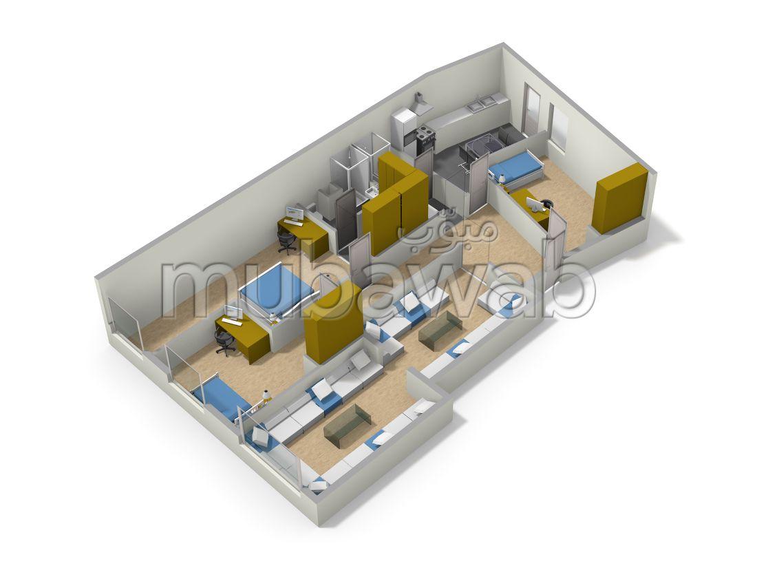 شقة رائعة للبيع بالقنيطرة. 4 قطع كبيرة. مصعد وشرفة.