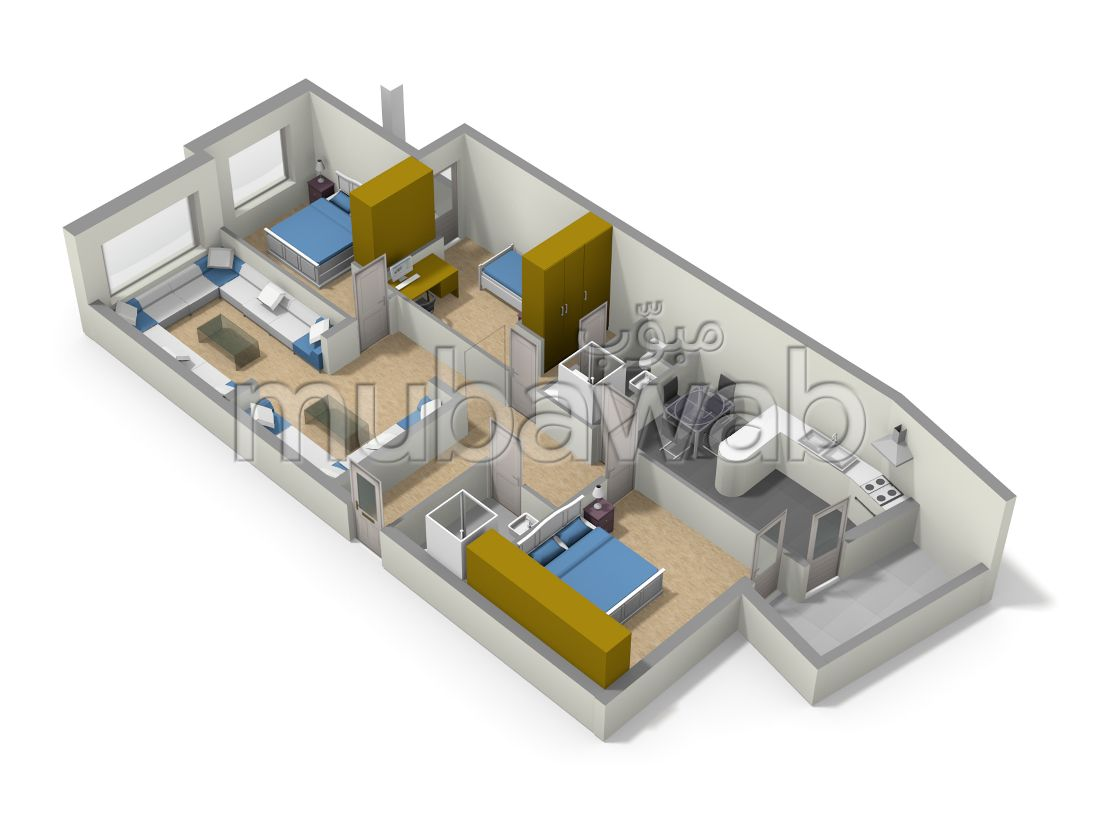 Sale of a lovely apartment. 4 large living areas. Integrated air conditioning.