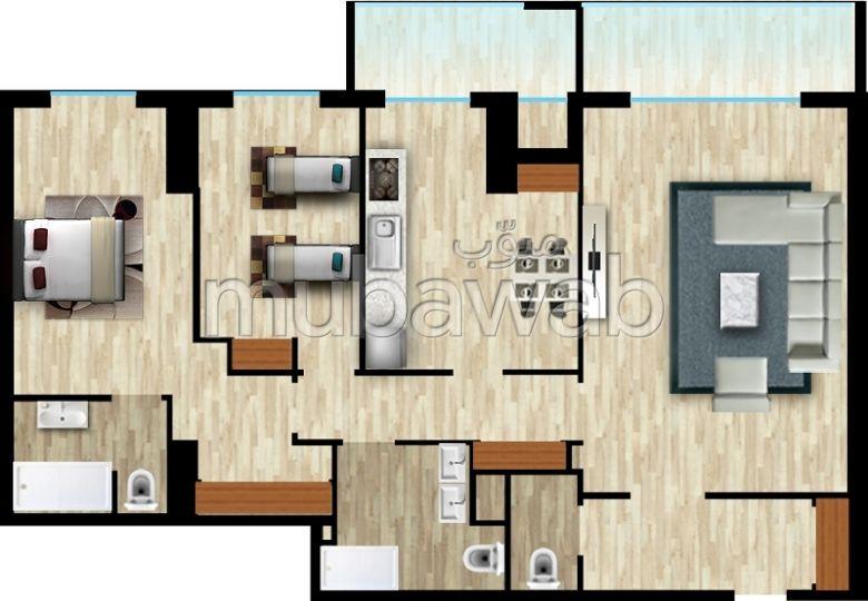 Vend appartement F4 en duplex résidences les tours Cherif promotion à Oran.