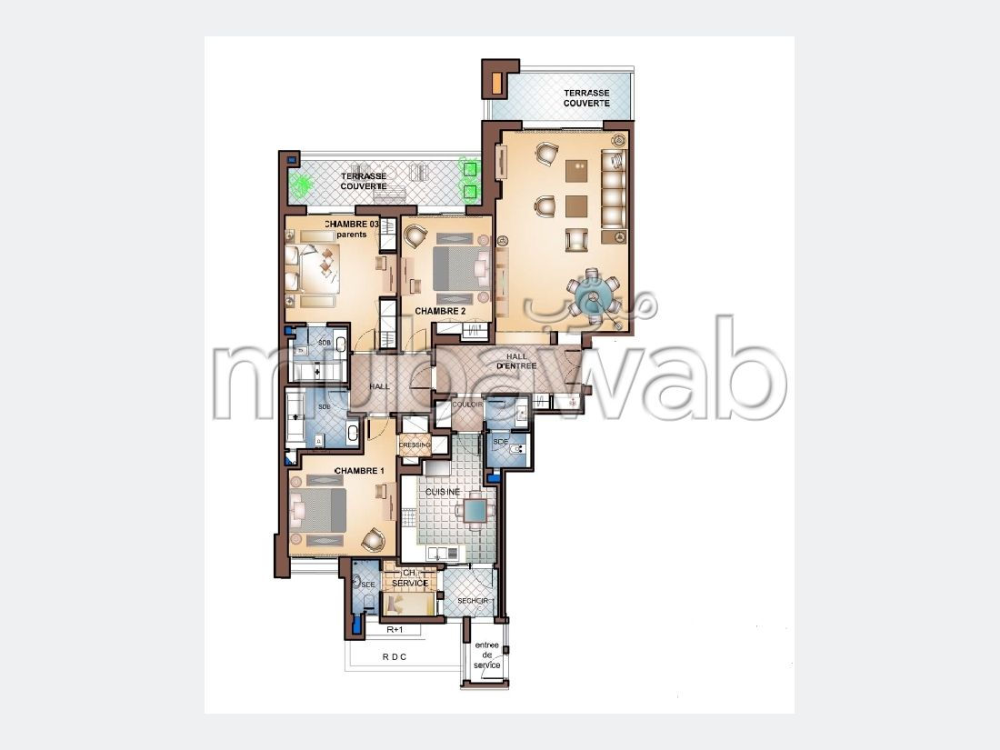 A vendre Appartement de Haut Standing S+3  (242m²)