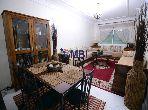 شقة مساحتها 118م²، مفروشة، مطبخ مجهز، 4 غرف، طنجة المدينة