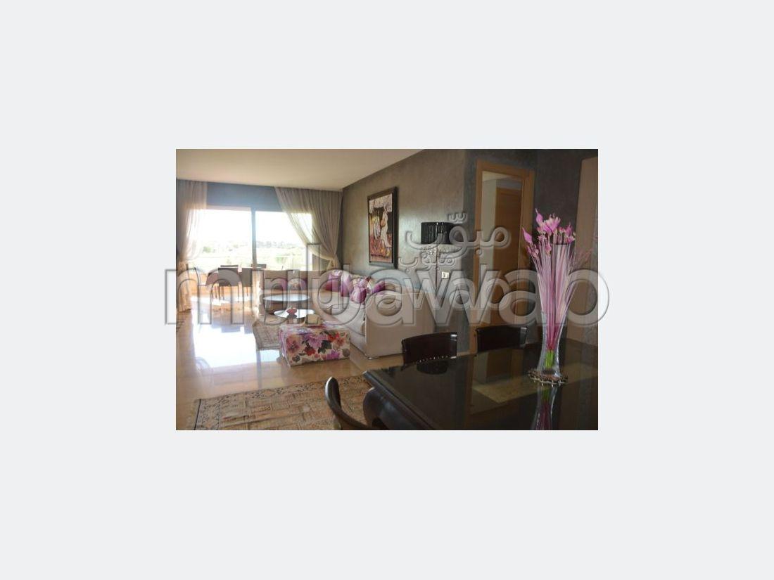 شقة للكراء بأكدال. المساحة الكلية 128 م². مفروشة.