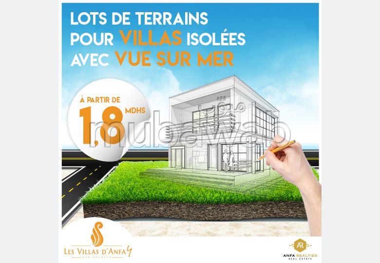Lot de terrain pour villa de 410m² en vente Les Villas d'Anfa 4