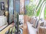 Très bel appartement de décorateur de 173 m2,1 etage, ascenseur, grandes terrasses, 2 ch, 2sdb, jardien
