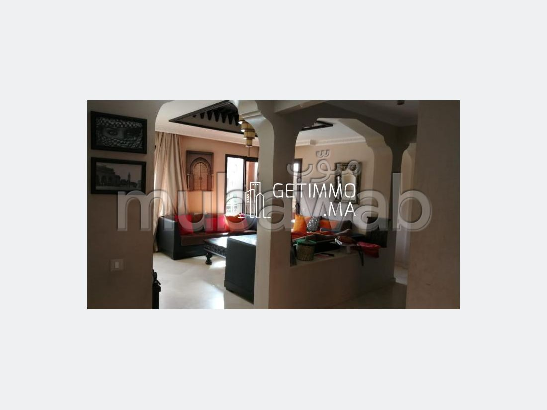 Rent an apartment in Ennakhil (Palmeraie). Small area 84.0 m². Dressing room.