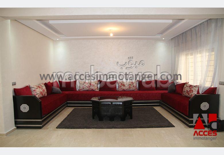 فيلا مساحتها 250م²، مفروشة، مطبخ مجهز، 4 غرف، طنجة المدينة