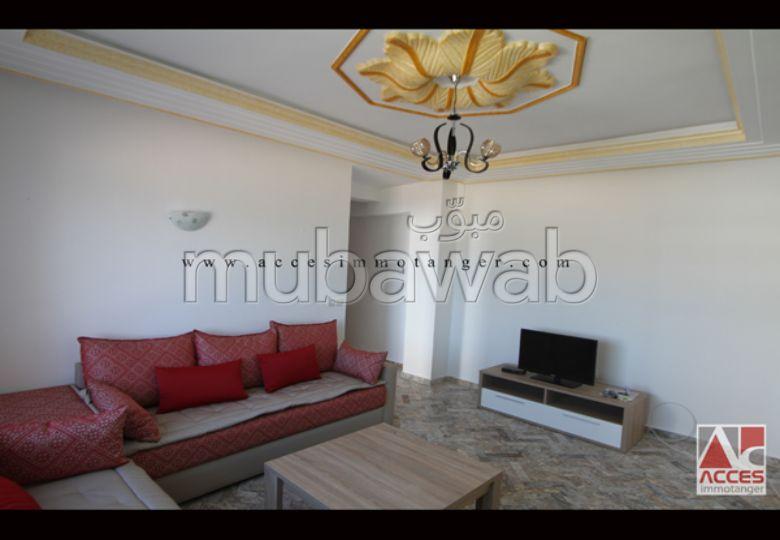 شقة مساحتها 60م²، مطبخ مجهز، شرفة، غرفتين، طنجة المدينة