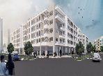 مكاتب ومحلات للبيع ببوسكورة. المساحة 115.0 م². مع مصعد ومنطقة خضراء.
