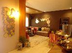 بيع شقة ببوسكورة. المساحة 123.0 م². المناطق الخضراء ومصعد.