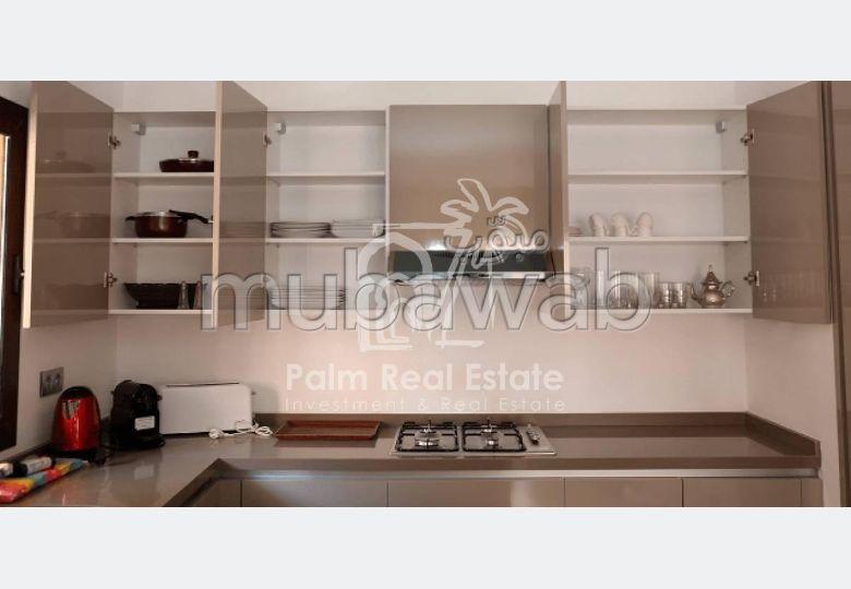 شقة مساحتها 256م²، مفروشة، شرفة، 3 غرف، جيليز