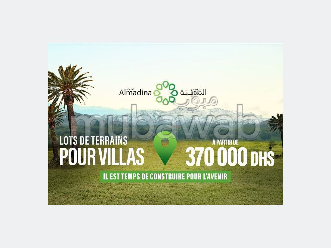 Land for purchase in Route de l'Ourika. Dimension 268 m².