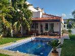 High quality villa rental in Malabata. 3 Small bedroom. Furnished.