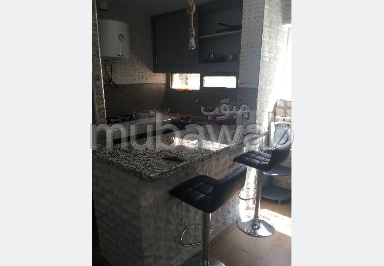 شقة مساحتها 24م²، مطبخ مجهز، حديقة،  غرفة، الشرف مغوغة
