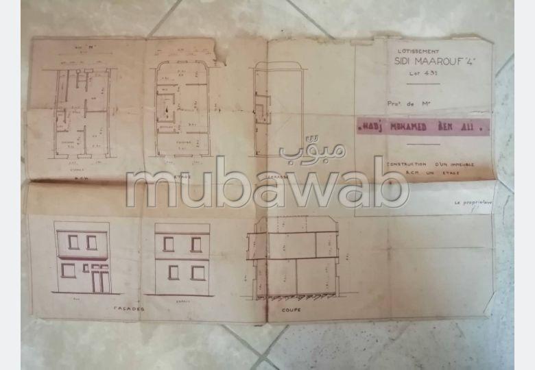 Maison à vendre à sidi maarouf el fida de 60 m2