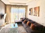 شقة جميلة للكراء بالأميرات. المساحة الإجمالية 55 م². مفروشة.