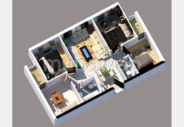 Appartement à l'achat à Marjane. 3 grandes pièces. Vue sur les montagnes et porte blindée.