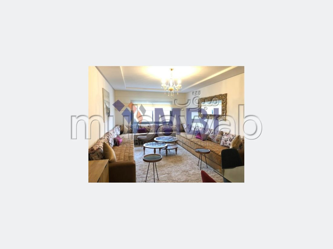 شقة للكراء بملابطا. المساحة 104 م². مفروشة.