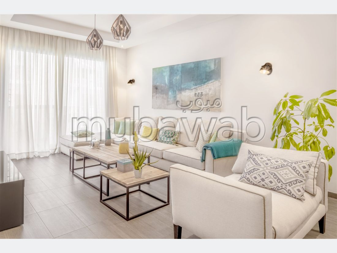 Apartment for sale in Plage Oulded Cherrat. 3 beautiful rooms. Gardeners, With Lift.