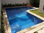 منزل ممتاز للبيع بالدارالبيضاء. 9 قطع مريحة. حديقة وشرفة.