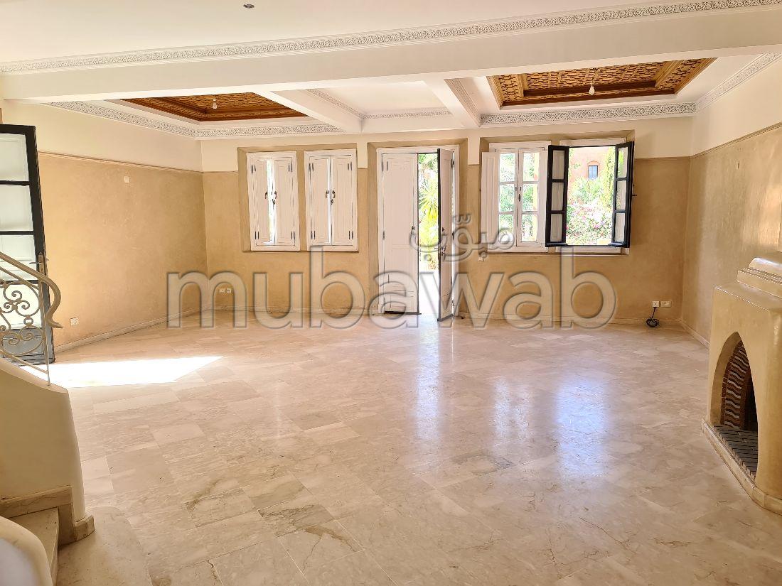 Villa 3 chambres non meublée avec piscine à la palmeraie