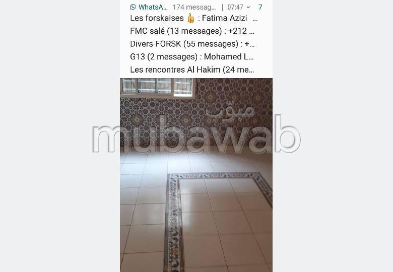 Appartement à louer à Rabat. 2 grandes pièces. Meublé.