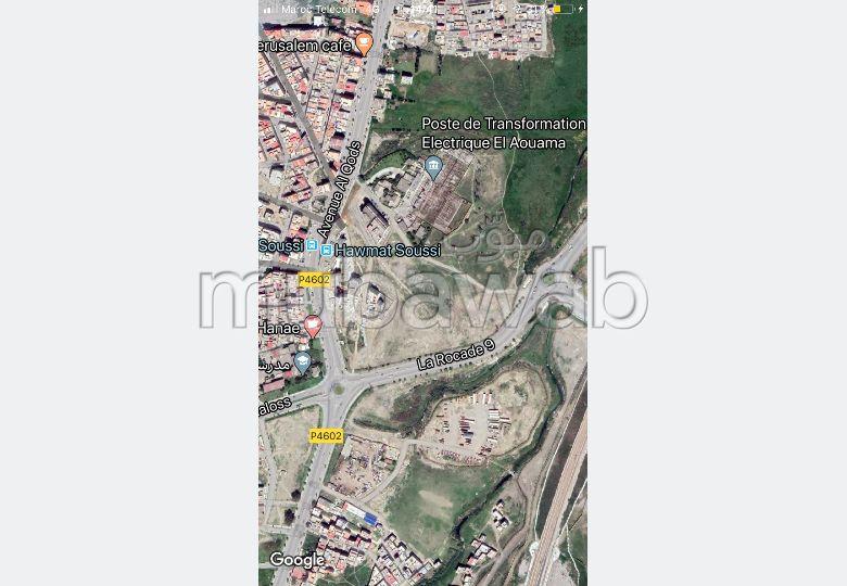 Compra-venta de terrenos en Aouama Gharbia. Superficie 1 000 m².