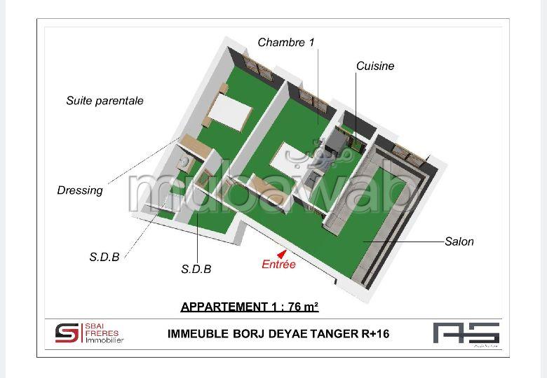 Magnífico piso en venta en De La Plage. 2 Habitación pequeña. Sin Ascensor, balcón.