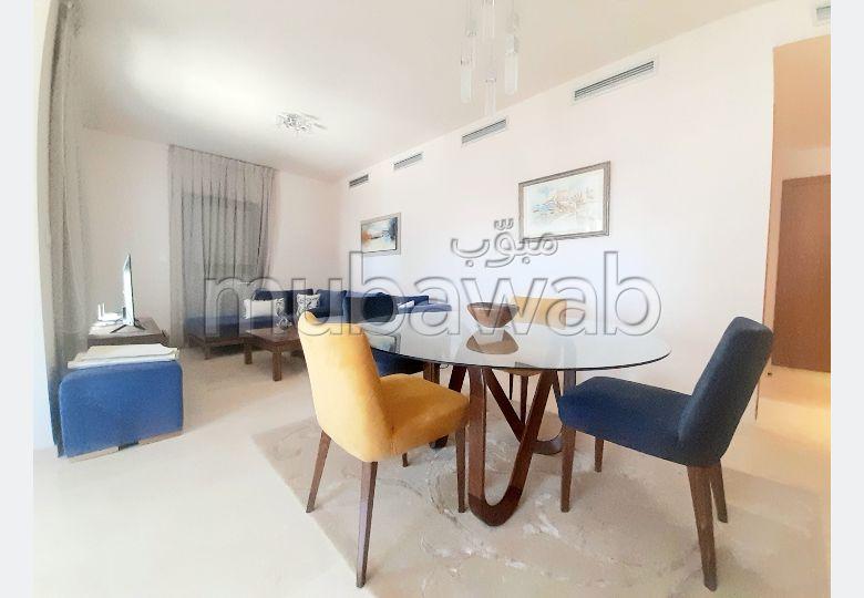 Appartement à louer à Casablanca Finance City. Superficie 126.0 m². Bien meublé.