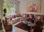 شقة للبيع ببوسكورة. 3 غرف. مساحة خضراء.