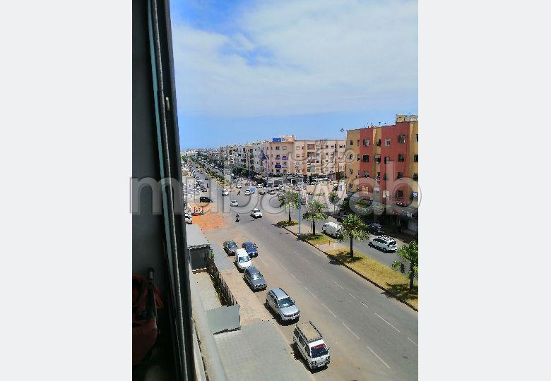 شقة للبيع 77متر في الطابق التالت عمارة مجهزة بالسانسور على الشارع محمد زفزاف اناسي