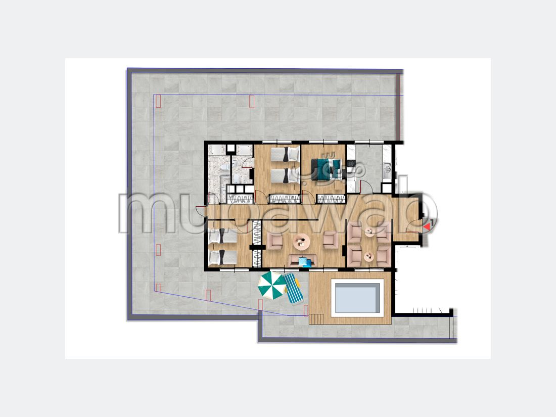 Find an apartment to buy. Dimension 108 m². Security.