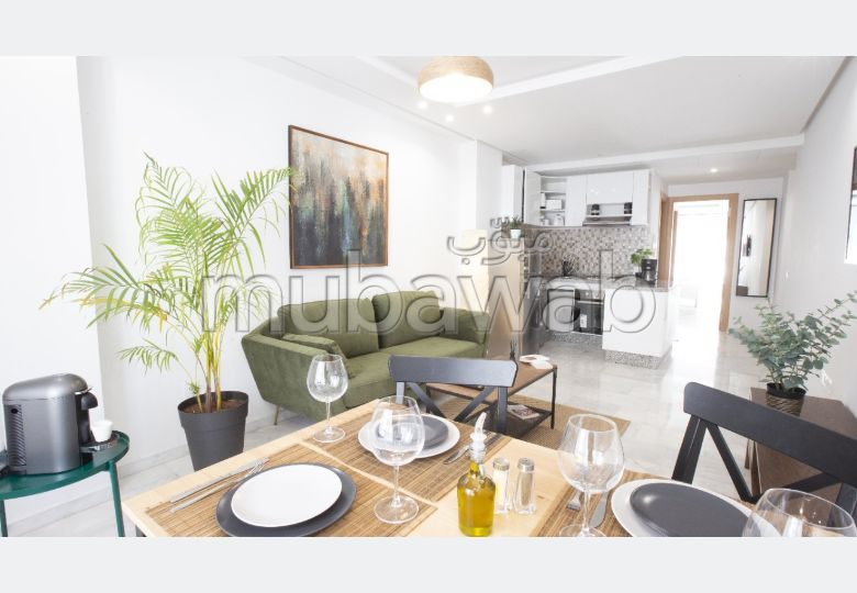 Apartment for rent in Agdal. Area of 67.0 m². Residence with caretaker, general air conditioning.