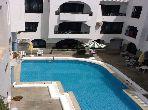 Appartement meublé en face de SINDBAD avec piscine
