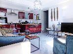 شقة جميلة للبيع بمراكش. 1 غرفة جيدة. شرفة رائعة.