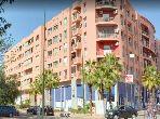شقة للبيع بمراكش. المساحة الإجمالية 104.0 م². صالة مغربية وصحن فضائي.