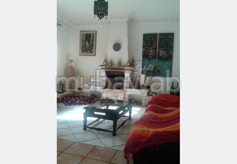 Villa  à louer vide à Mohammedia. - Monica plage ( 10 pièce  confortabl  . Jardin et garage