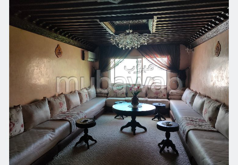 Apartment for sale. 4 lovely rooms. Furnished Moroccan living room, General satellite dish system