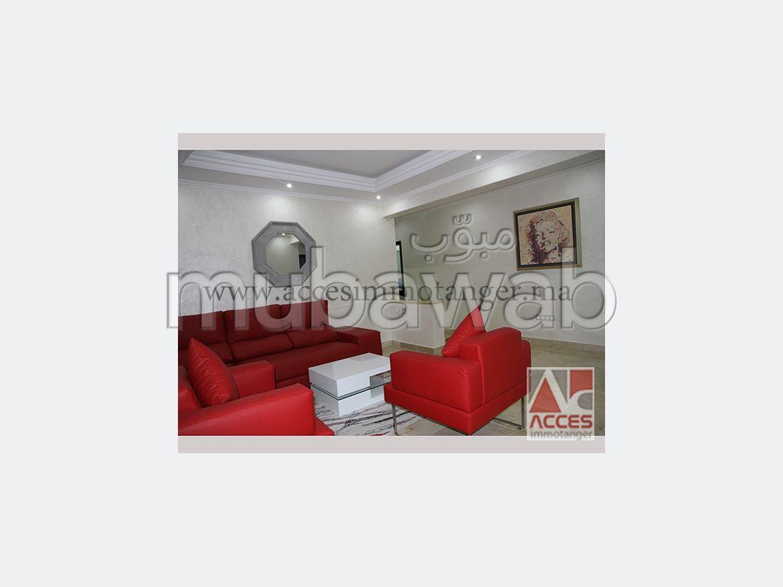 شقة جميلة للكراء بطنجة. المساحة الكلية 85.0 م². مفروشة.