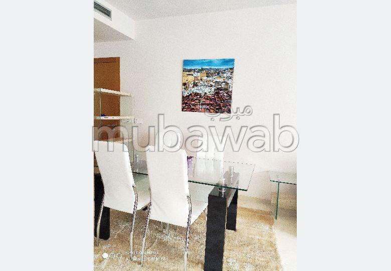Très bel appartement bien meublé en location à Casablanca Finance City