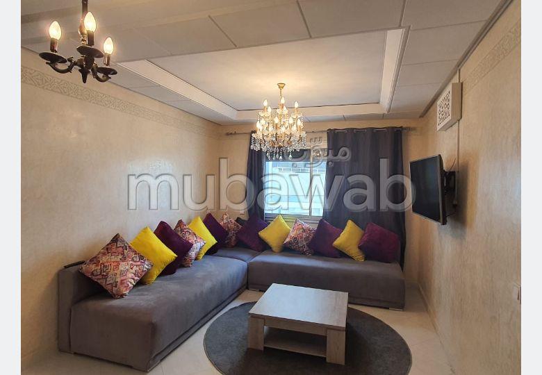 شقة جميلة للكراء بطنجة. المساحة الكلية 70.0 م². مفروشة.