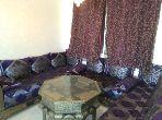 Location saisonnière à Kénitra. Surface de 90 m². Bien meublé.